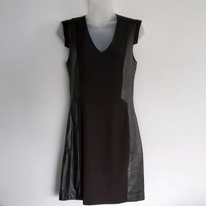 H&M Faux Leather Panel Dress - US 10